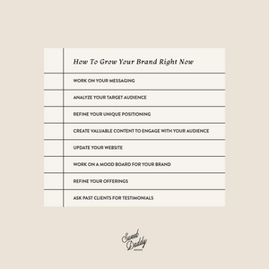 Checklist on How to grow your brand