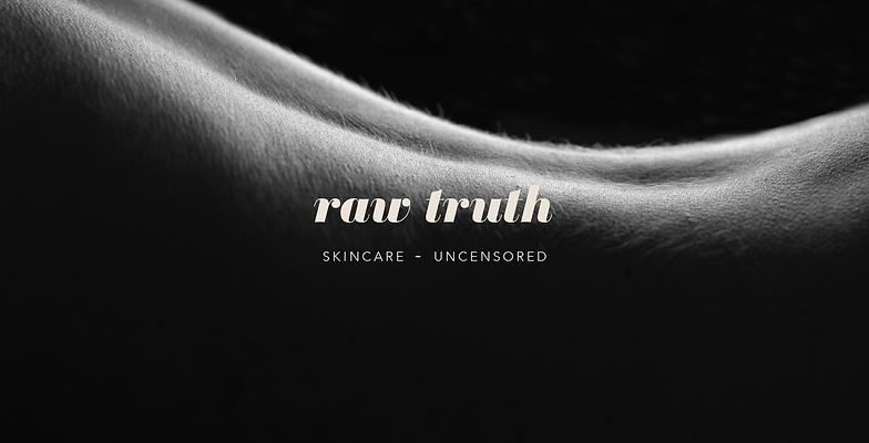 raw organic skincare branding logotype