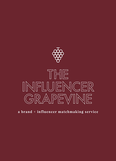 Wine colored logo design for The Influencer Grapevine PR and Influencer agency