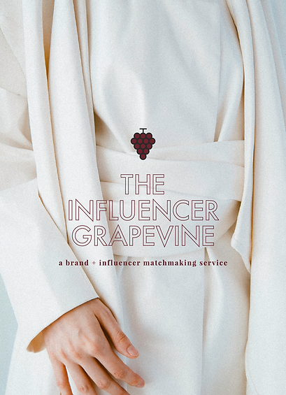 Logo design and brand identity for the Influencer Grapevine agency