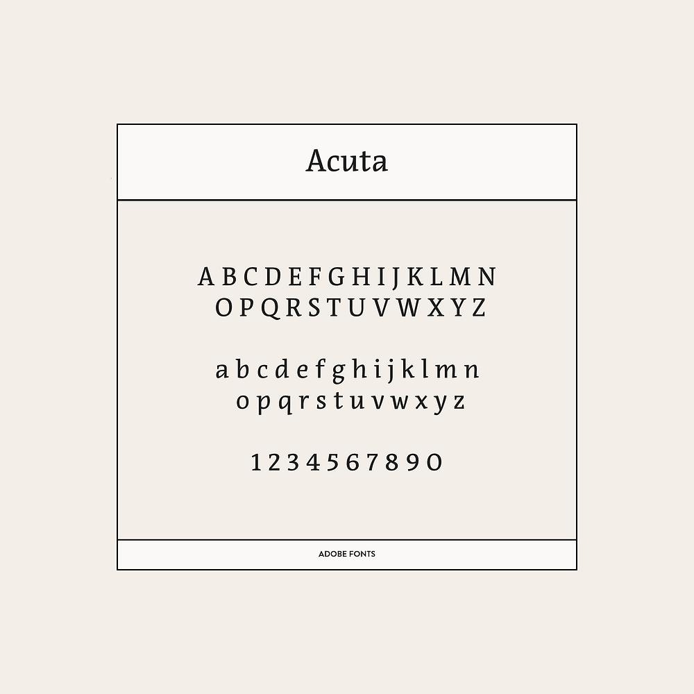 Acuta Font
