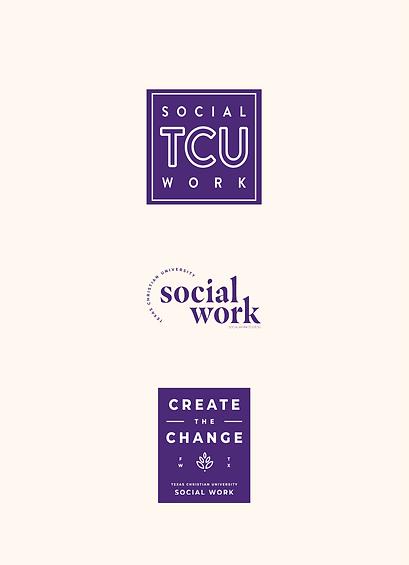 Texas Christian University Social Work logo and sticker design