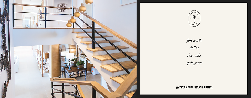 Texas Real Estate Sisters Collateral Design Modern Staircase