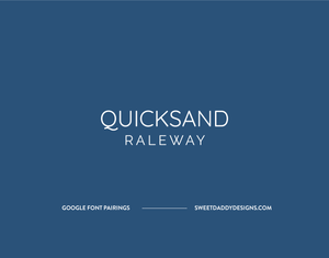 Quicksand and Raleway Google Font Pairing