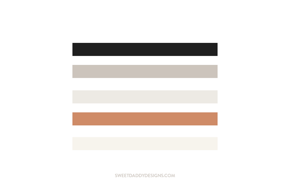 Sweet Daddy Designs Brand Color Palette