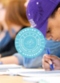 Texas Christian University Social Work Blue Circle Logo