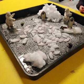 Ice, glitter and animals!