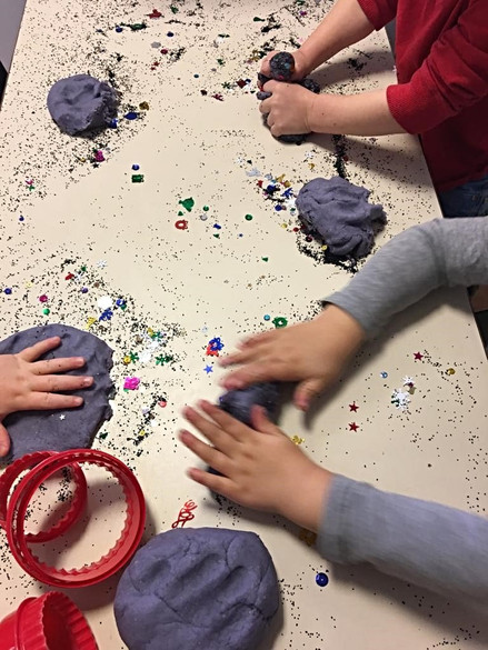 Playdough and sparkles