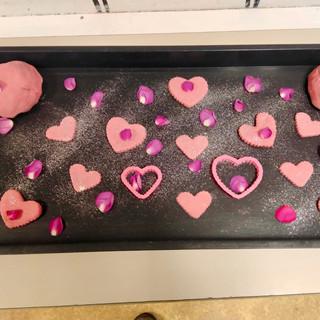 Valentines playdough