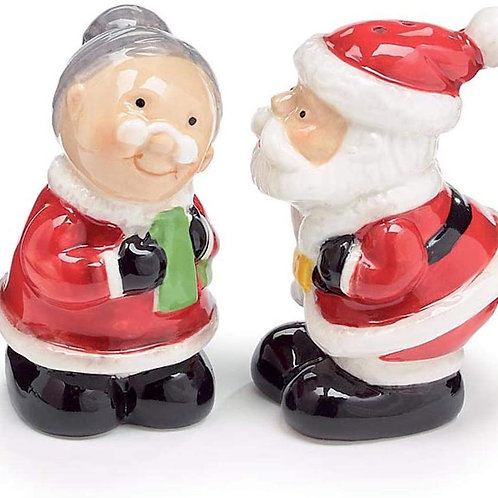 Kissing Santa Salt & Pepper Shakers
