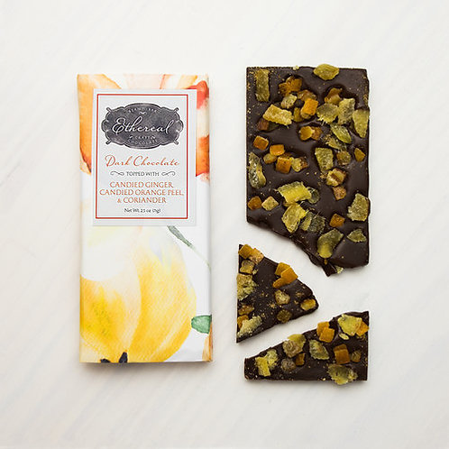 Ethereal Chocolate with Canied Ginger,Orange Peel & Coriander