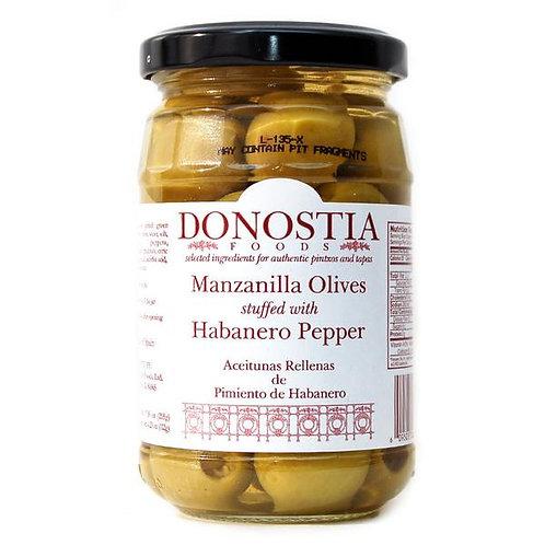 Donostia Manzanilla Olives stuffed w/ Harbanero Pepper