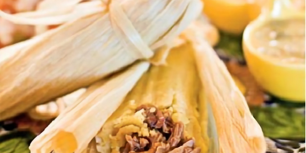 Traditional Tamales with Red and Green Sauce