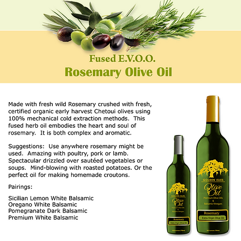 Rosemary Fused Extra Virgin Olive Oil