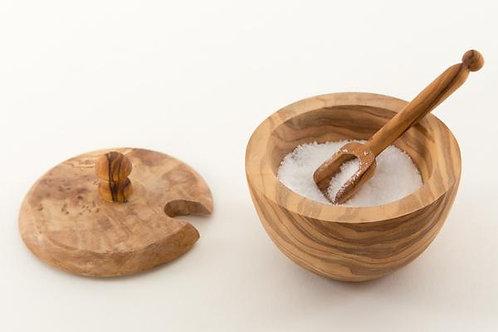 Olive Wood Sugar Bowl w/Lid