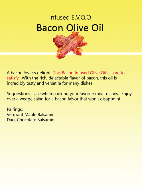 Infused Bacon Olive Oil