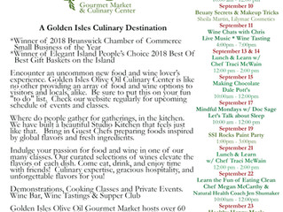 Golden Isles Olive Oil Culinary Center has a Full Line up of Cooking Classes & Events for Septem