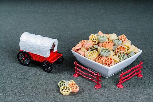 Papparedlle's Tri-Colore Wheels Pasta