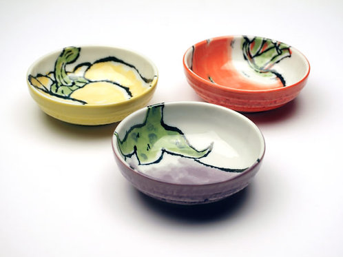 Garden Veggie Porcelain Bowl (asst of 6 - 2 each)