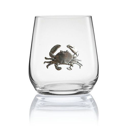 Crab Stemless Wine Glass