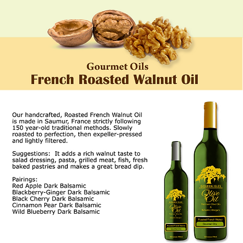 French Roasted Walnut Extra Virgin Olive Oil
