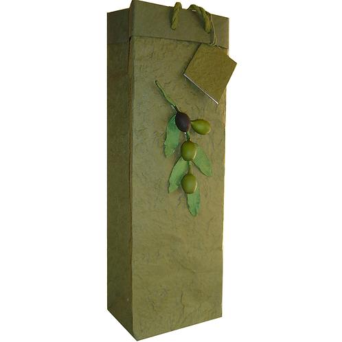 Single Wine Bottle Bag Green