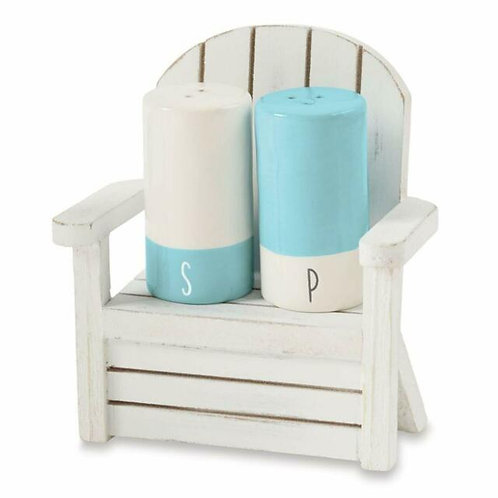 Beach Salt & Pepper Shakers in Wood Chair
