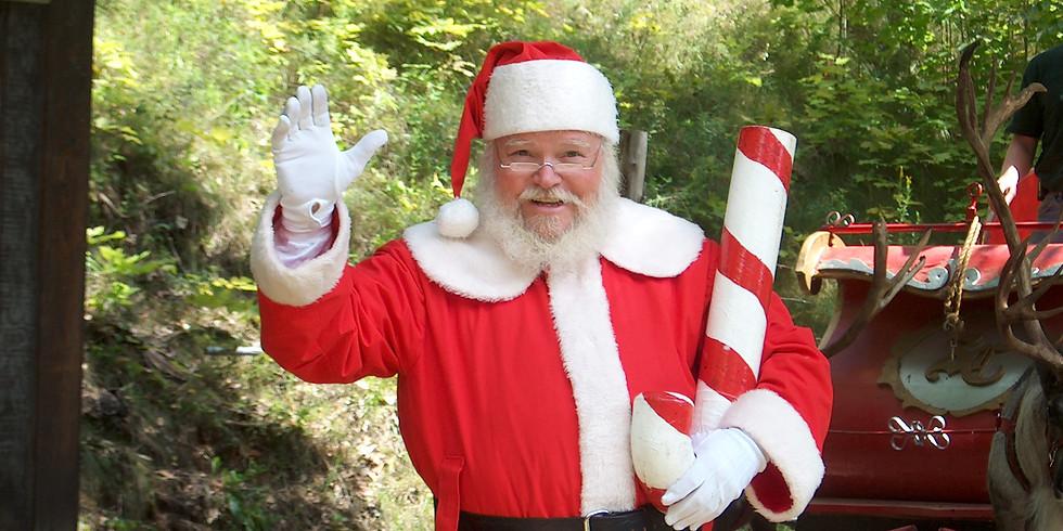 Santa Visits Golden Isles Olive Oil