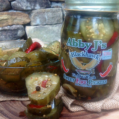 Abby J's Sweet Fire Pickles
