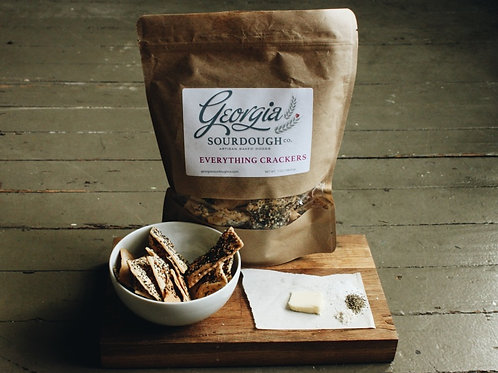 Georgia Sourdough Crackers - Everything Crackers