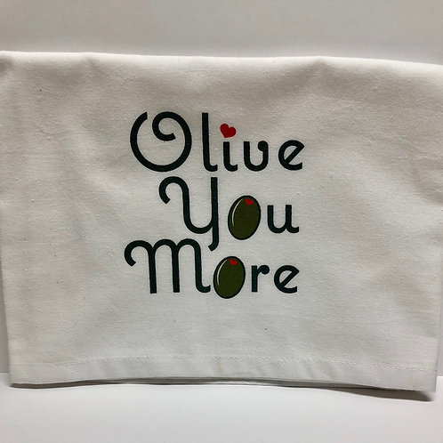 Olive You / Olive You More Tea Towel