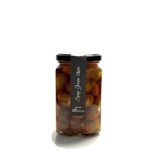 Spicy Green Olives