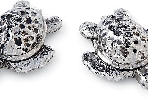 Metal Turtle Salt & Pepper Set