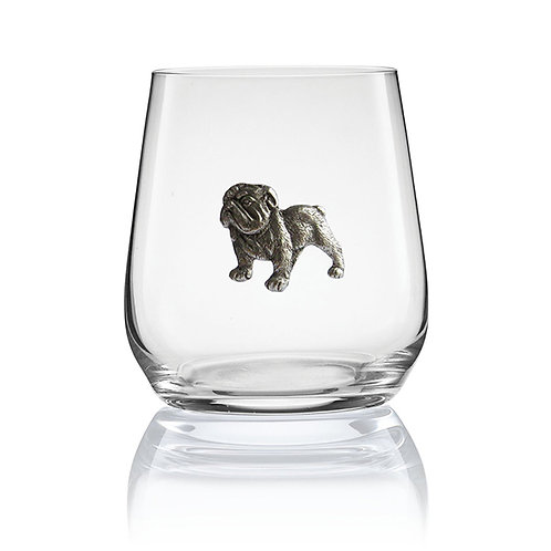 Menegerie Bulldog Stemless Wine Glass