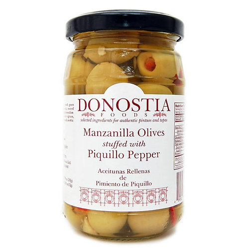 Donostia Manzanilla Olives stuffed w/Piquillo Pepper