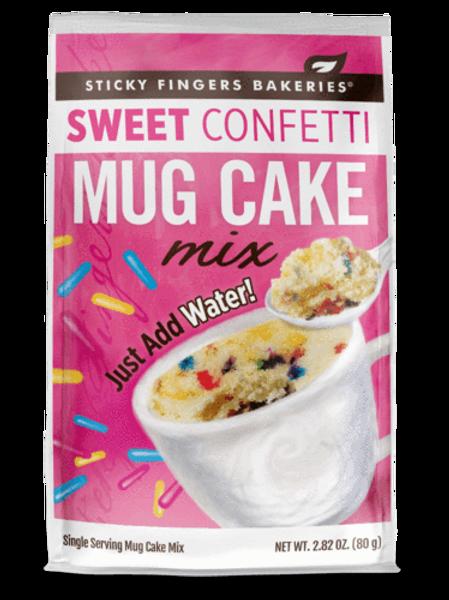 Sticky Fingers Bakeries Sweet Confetti Mug Cake