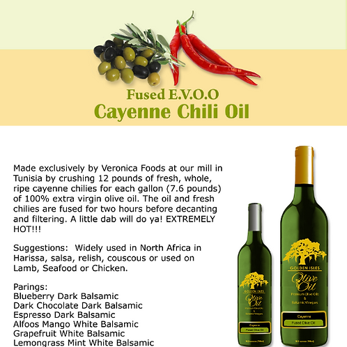 Cayenne Chili Extra Virgin Olive Oil