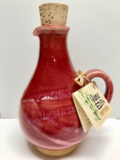 Large Red Oil Decanter