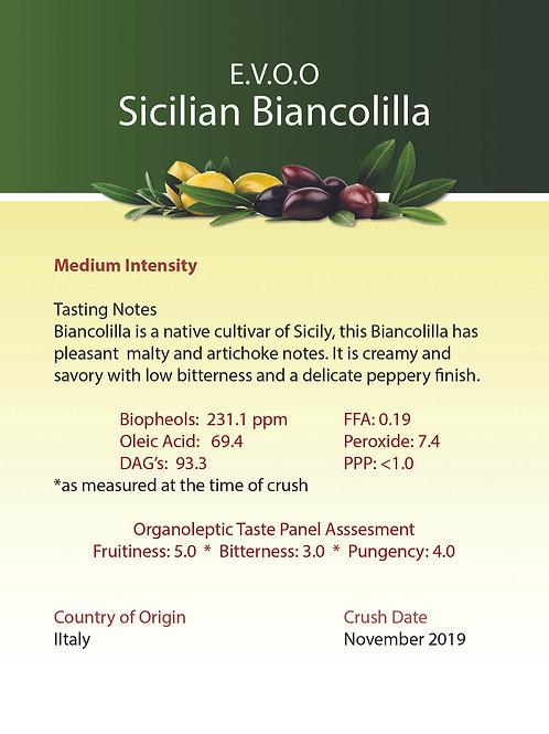 Sicilian Biancolilla Ultra Premium Extra Virgin Olive Oil