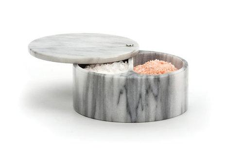 Marble Swivel Salt Box White