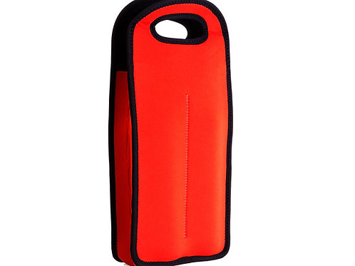 Insulated Bottle Tote red or blue