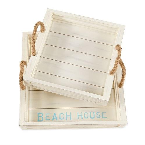 Beach House Tray Set