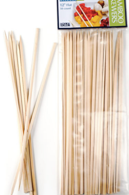 "Bamboo Flat Skewers 12"" (50cnt)"