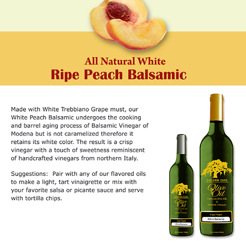 All Natural Ripe Peach White Balsamic