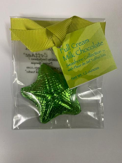 Sugar Marsh Starfish / Sand Dollar Milk Chocolate or Bittersweet Chocolate
