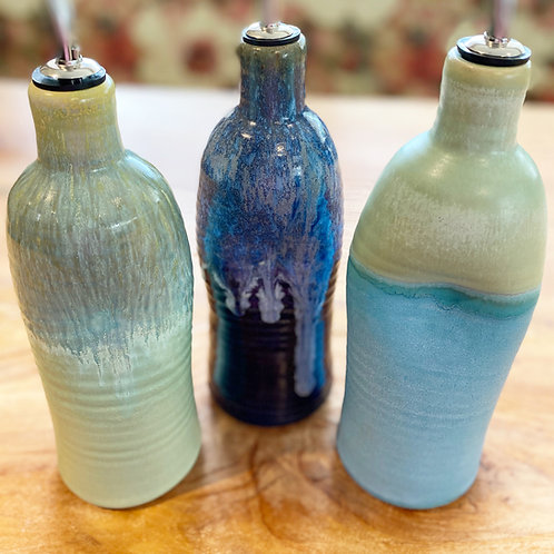 Parsley Pottery Olive Oil Bottles