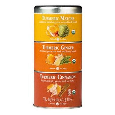 Tumeric Stackable Teas- Matcha, Ginger, & Cinnamon