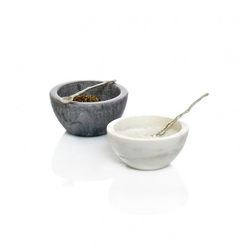 Herb & Salt Bowl White Marble