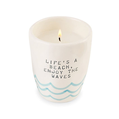 French Ivory Life's A Beach Ombre Candles