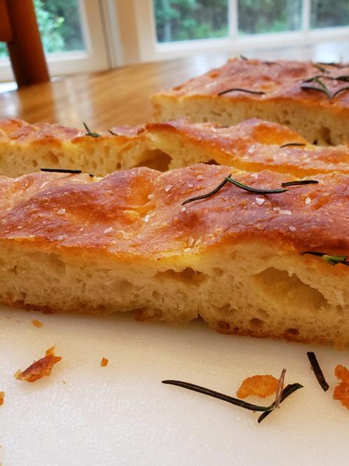 Classic Focaccia Olive Oil Skillet Bread